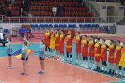 Echipa națională a României înaintea meciului cu Ucraina, din Golden League