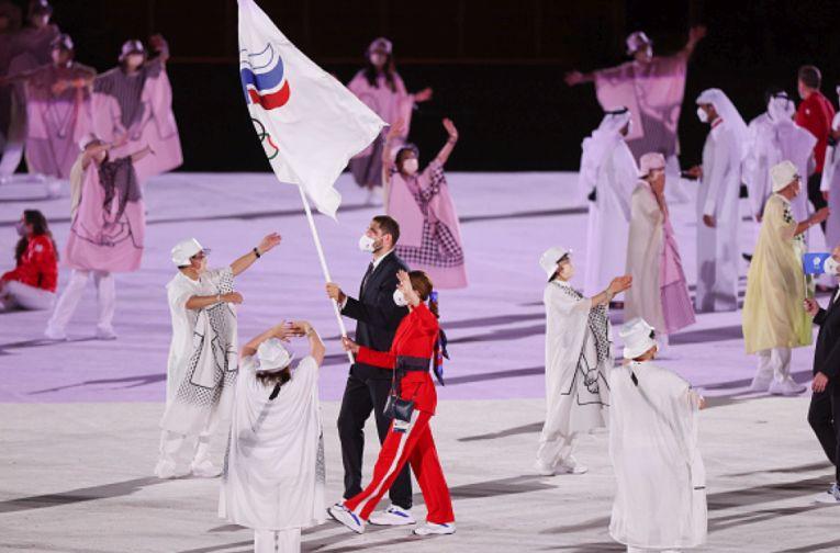 Maxim Mihailov a fost portrapelui delegatiei ROC, numele sub care concurează sportivii din Rusia