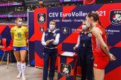 Ksenia Jurkovic a trecut prin momente dificile în meciul dintre Turcia și Ucraina