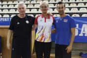 Antrenorii italieni ai celor două selecționate, Luciano Pedulla și Daniele Santarelli, și o jucătoare care a făcut carieră în Italia, Luminița Pintea-Trombițaș, actualul team manager al naționalei feminine