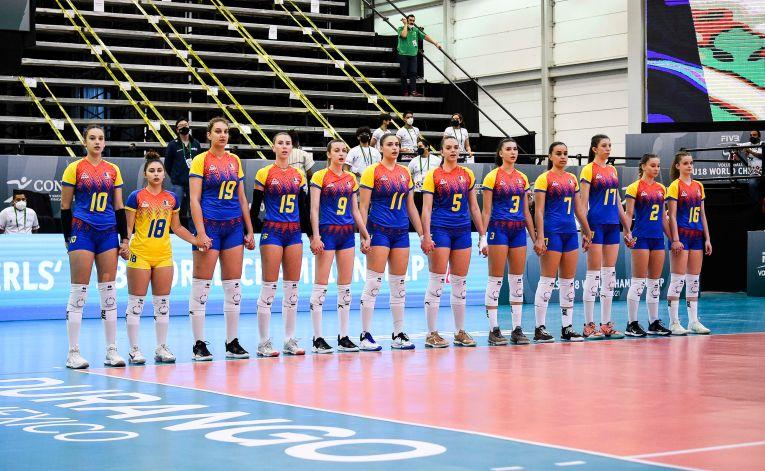 Naționala României înaintea meciului cu SUA de la CM U18