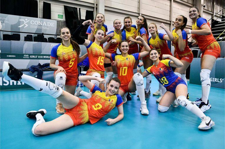 Bucuria româncelor după calificarea în optimile Campionatului Mondial U18 de pe locul 2 în grupă