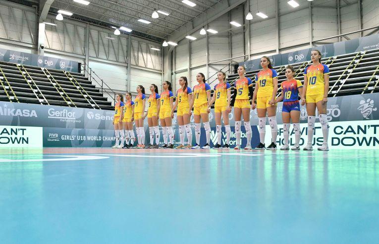 Naționala României de la Campionatul Mondial Under 18, la intonarea imnurilor