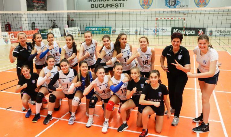 Echipa de cadete CSM București după prima etapă a campionatului 2021/ 2022