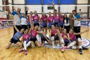 Bucuria fetelor de la Medgidia după victoria obținută pe terenul campioanei, CSM Târgoviște, în etapa a doua