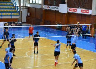 Fază de joc din meciul de juniori LAPI Dej - LPS Bistrița, din etapa a doua a campionatului 2021/ 2022