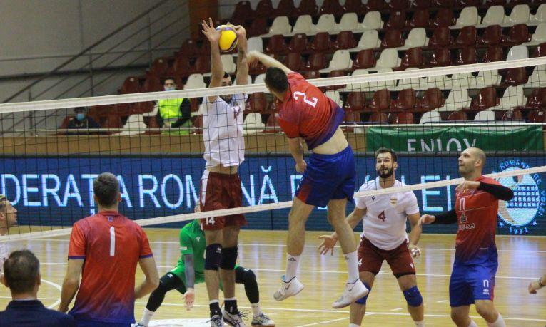 Steaua a câștigat în fața Rapidului în Divizia A1 la volei masculin