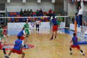 Imagine din meciul Steaua - Arcada Galati din Divizia A1 la volei masculin