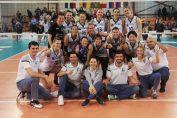 Bucuria jucatoarelor de la CSM Bucuresti dupa victoria de la Blaj