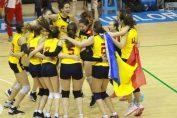 Bucuria nationalei Romaniei dupa victoria cu Cehia din preliminariile CE U16