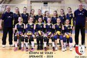 Echipa de sperante CSS Sibiu pentru turneul final 2018/ 2019