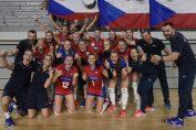 Bucuria jucatoarelor de volei din Cehia dupa calificarea in finala Golden league 2019