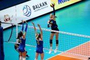 Alexia Cărutasu in atac la Campionatul Balcanic Under 19