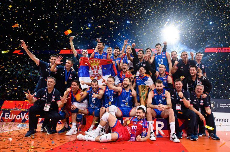 Serbia a cucerit pentru a treia oară titlul de campioană europeană la volei masculin