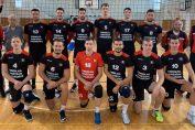 Jucătorii formatiei Explorări Baia Mare, la poza de grup pentru campionatul 2019/ 2020