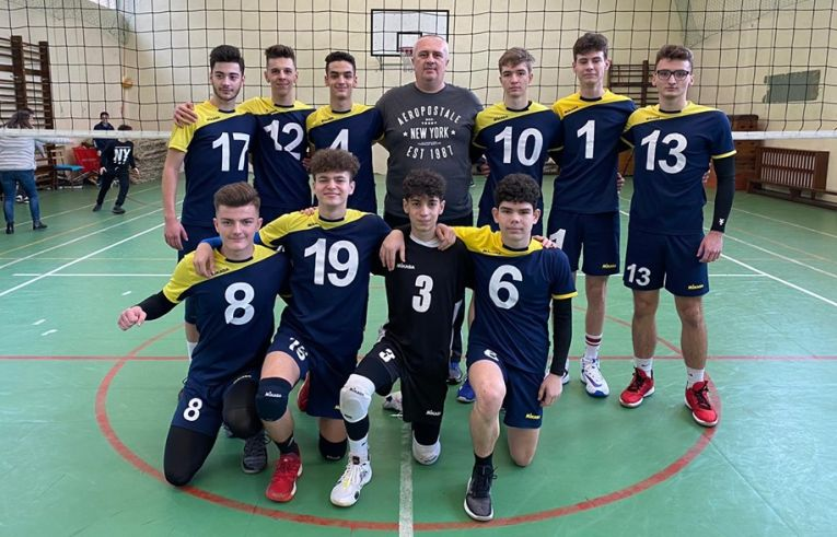 Echipa de cadeți CSS Zalău, după meciul din ultima etapa a campionatului regulat 2019/ 2020