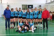 Echipa de junioare CSS SIbiu după victoria obținută în ultima etapă a campionatului