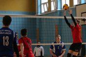 Tudor Constantinescu, setter of junior volleyball team CTF Mihai I in action