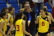 Adin Cojocaru le felicită pe componentele naționalei Under 16 a României după calificarea la turneul final al Campionatului European din 2019