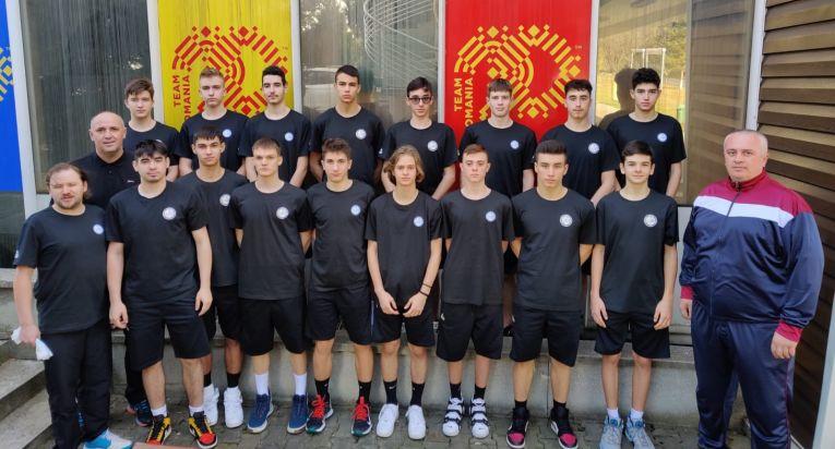 Naționala Under 17 a României înaintea plecării spre calificările pentru Campionatul European 2021