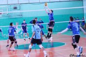 Tudor Constantinescu the setter of junior team CTF Mihai I in action