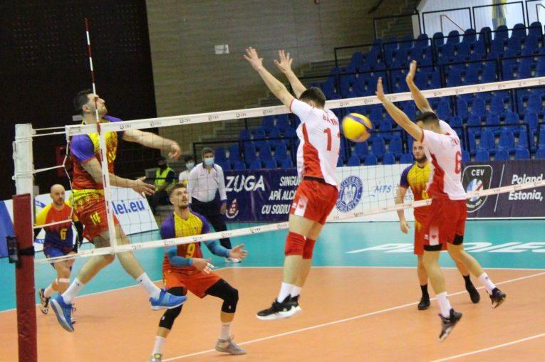 Gabriel Cherbeleață face unul dintre cele 19 puncte ale meciului cu Albania