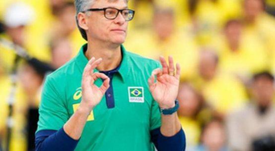 Renan Dal Zotto e selecționerul Braziliei din 2017