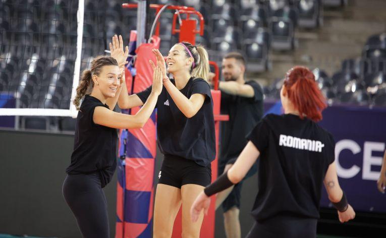 Alexia Căruțașu și Marina Cojocaru, la ultimul antrenament de dinaintea startului la Campionatul European