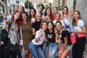 Jucătoarele naționalei României la ieșirea în Cluj-Napoca