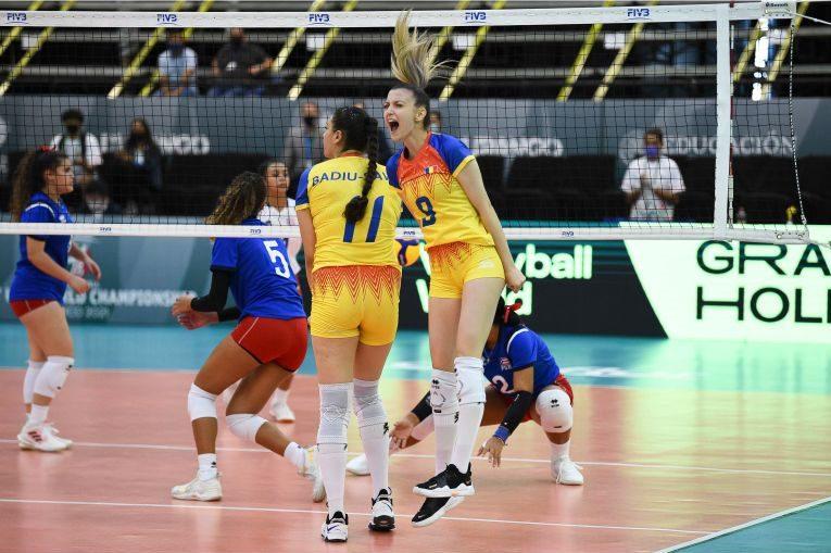 Bucuria Iarinei Axinte după blocajul reușit cu Puerto Rico la Campionatul Mondial Under 18