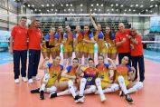 Naționala României după victoria cu Puerto Rico de la Campionatul Mondial Under 18